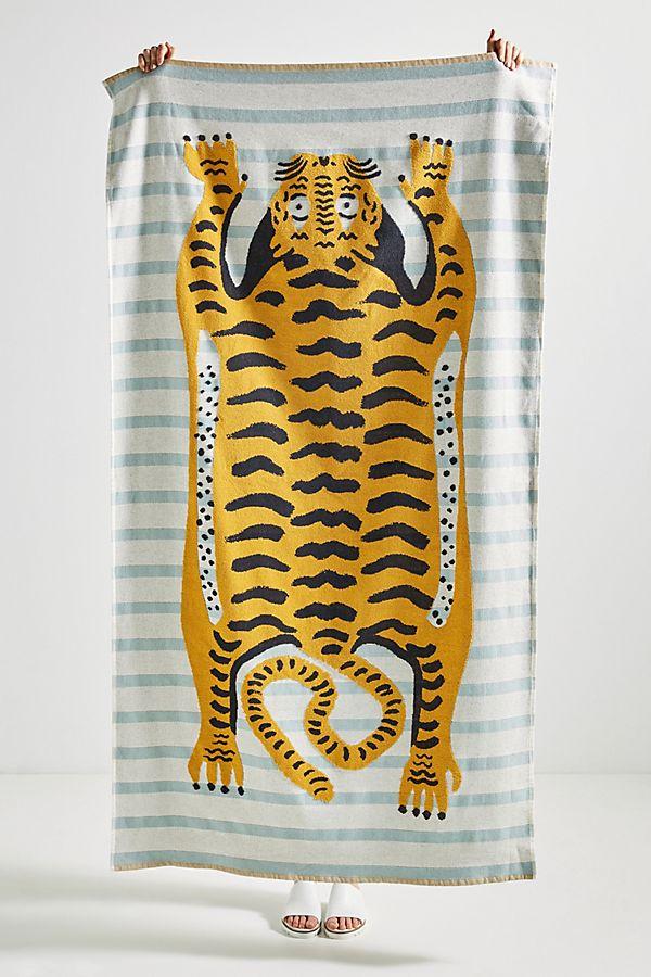 Slide View: 1: Tiger Beach Towel
