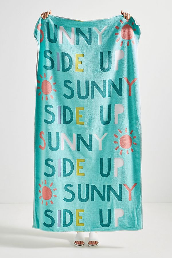 Slide View: 1: Sunny Side Up Beach Towel