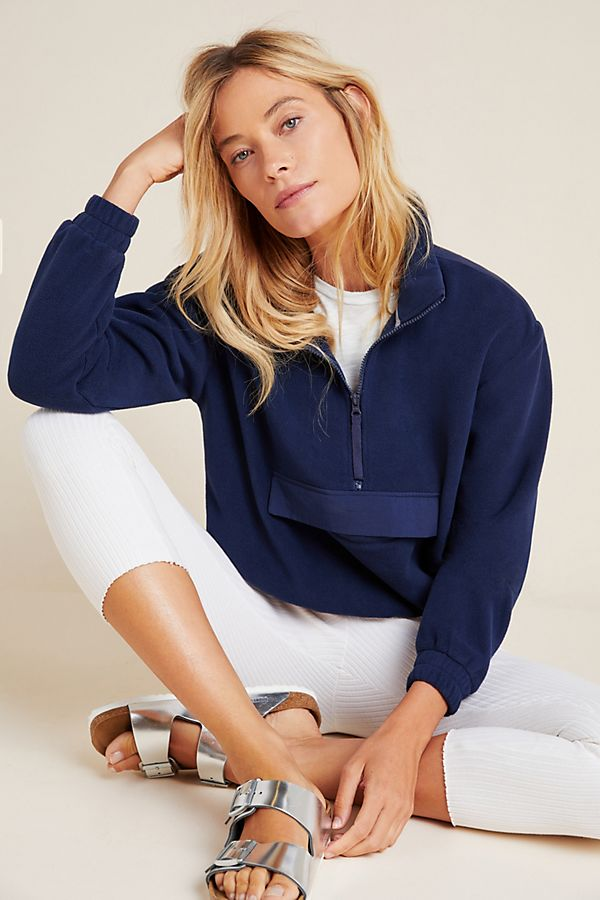 Slide View: 1: Splendid Half-Zip Fleece Jacket