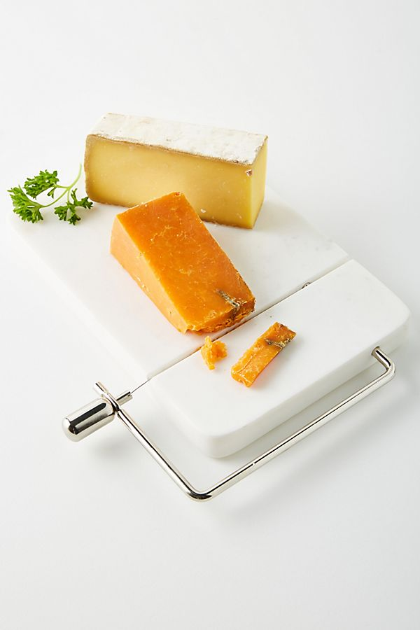 Slide View: 1: Marble Cheese Cutter Board