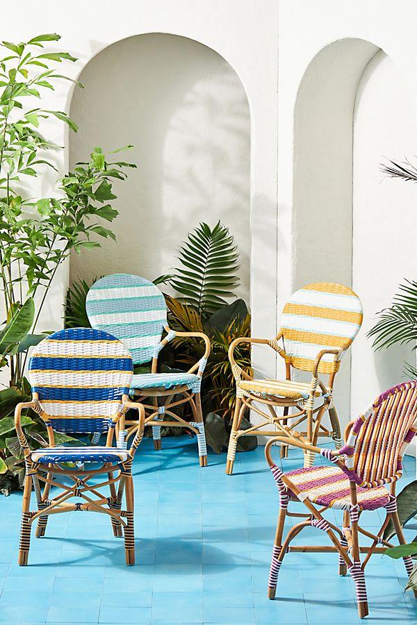 Slide View: 1: Belmar Striped Indoor/Outdoor Bistro Chair