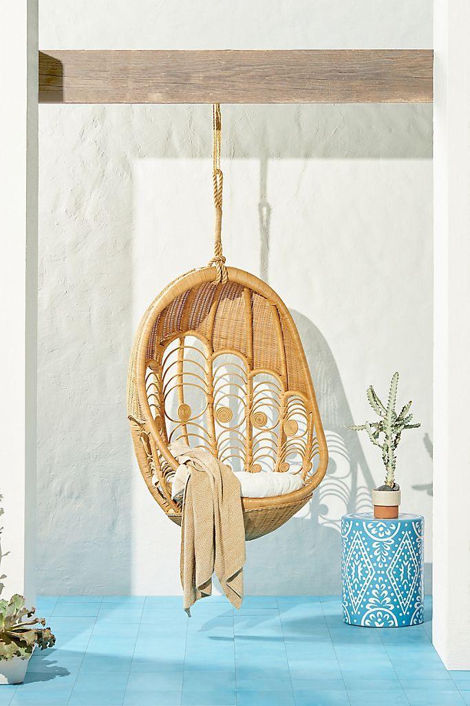 Peacock Indoor Outdoor Hanging Chair Anthropologie