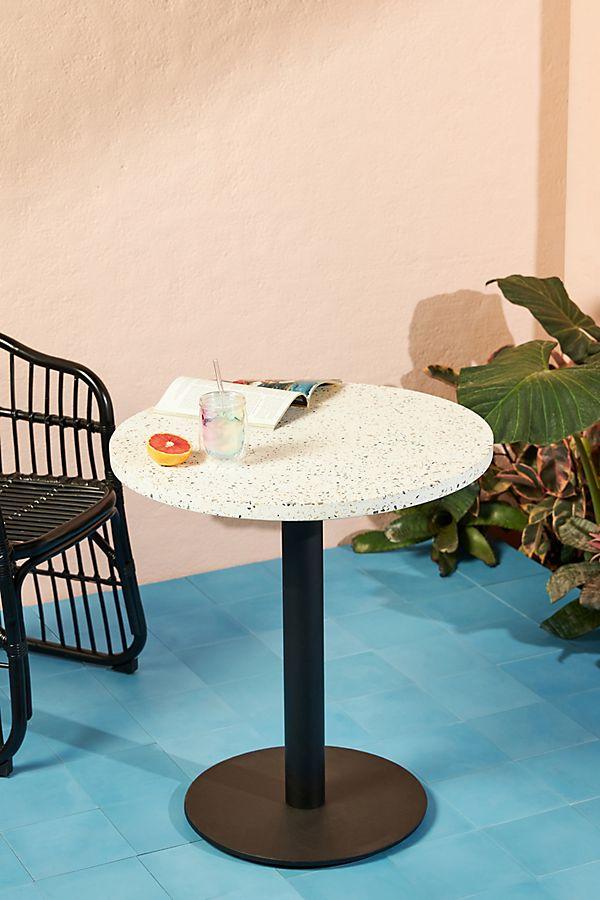 Slide View: 1: Terrazzo Indoor/Outdoor Bistro Table
