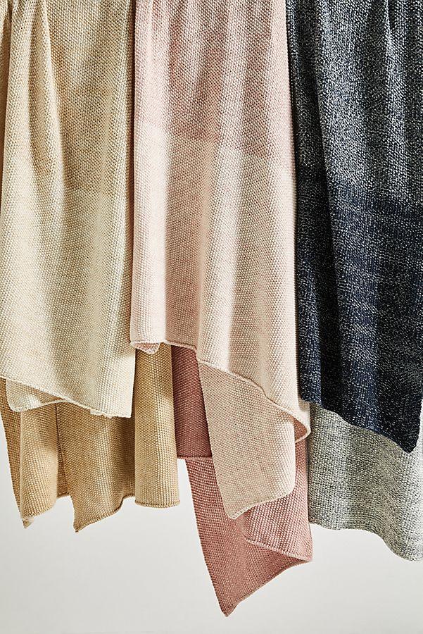 Slide View: 1: Gradient Knit Throw Blanket