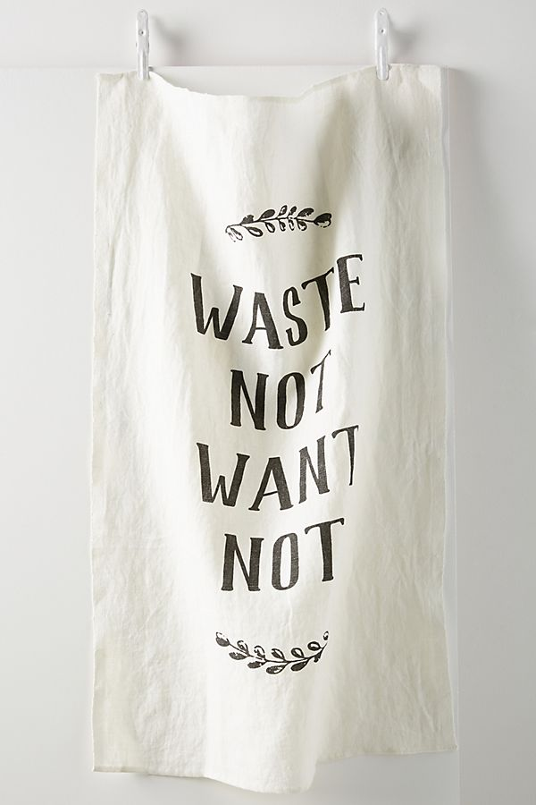 Slide View: 1: Waste Not Want Not Linen Dish Towel