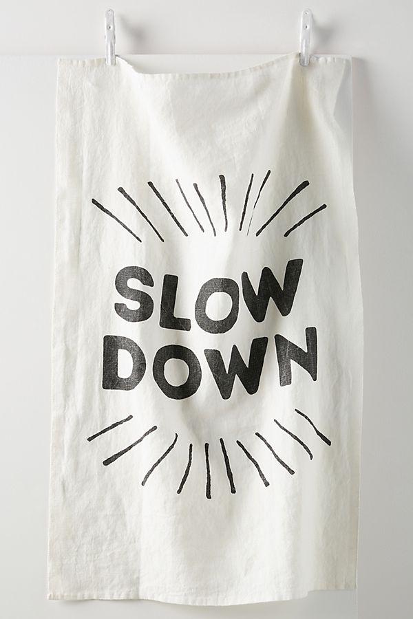 Slide View: 1: Slow Down Linen Dish Towel