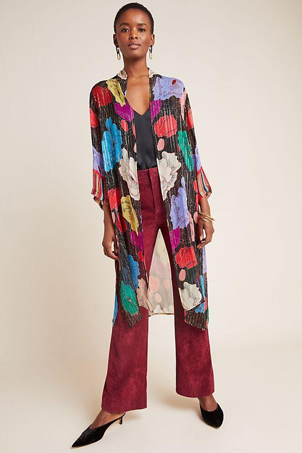 Slide View: 1: Bea Shimmer Duster Kimono