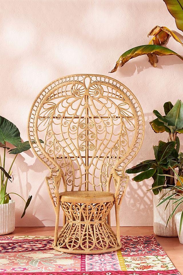 Plumage Indoor Outdoor Rattan Chair, Rattan Furniture Indoor