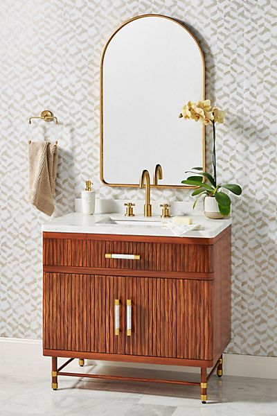 Deluxe Tamboured Single Bathroom Vanity
