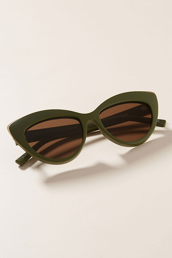 Slide View: 1: Le Specs Beautiful Stranger Cat-Eye Sunglasses