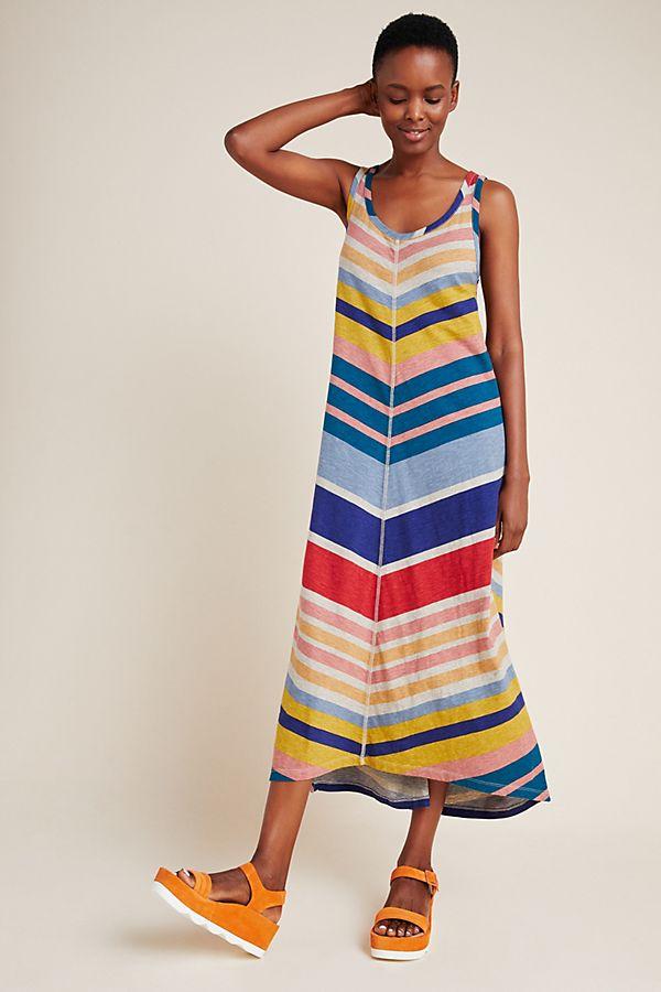Slide View: 1: Chevron Midi Dress