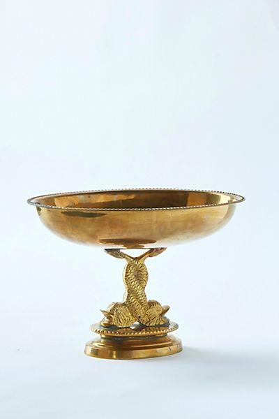 Patina Vie Vintage Brass Pedestal Bowl