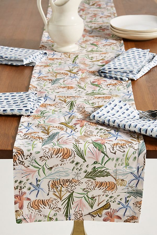 Slide View: 1: Mary Table Runner and Napkin Set