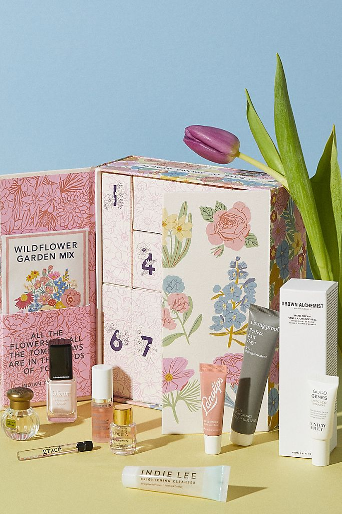 Anthropologie Mother's Day floral beauty gift box.