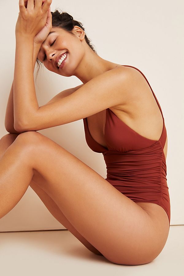 Slide View: 1: L Space Sydney Ruched One-Piece Swimsuit