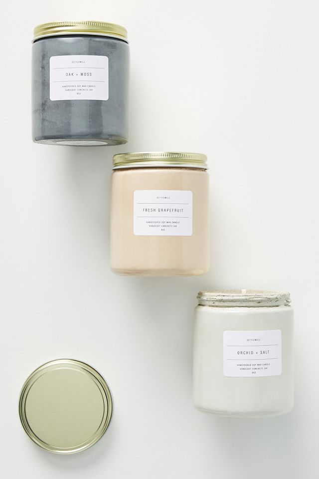 Concrete jar candles from anthropologie