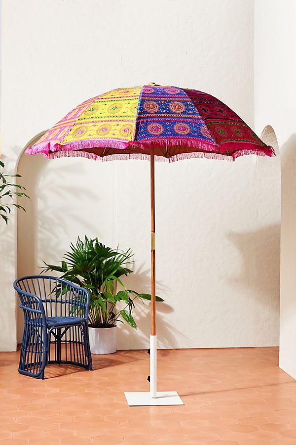 Slide View: 1: Eden Fringed Beach Umbrella
