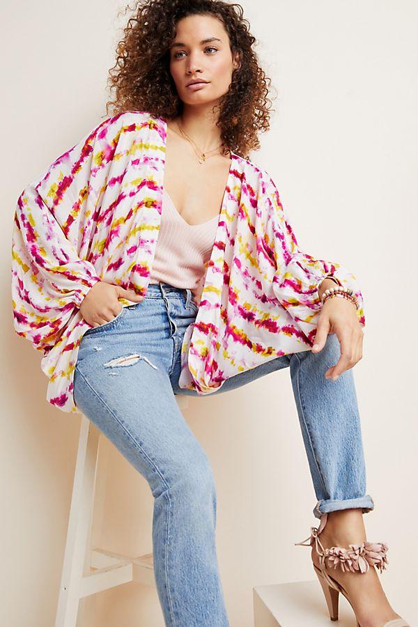 Slide View: 1: Dip-Dyed Cocoon Kimono