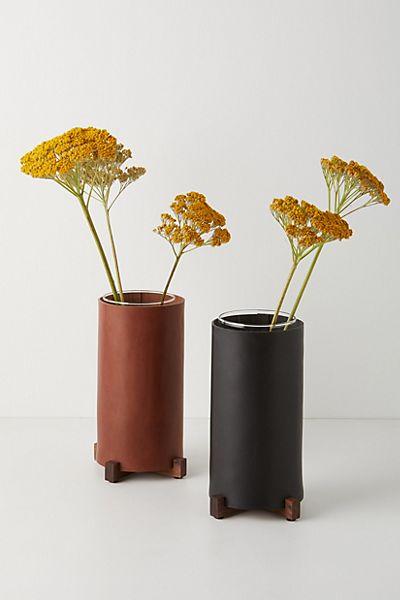 Sylvan Park Leather Vase #1
