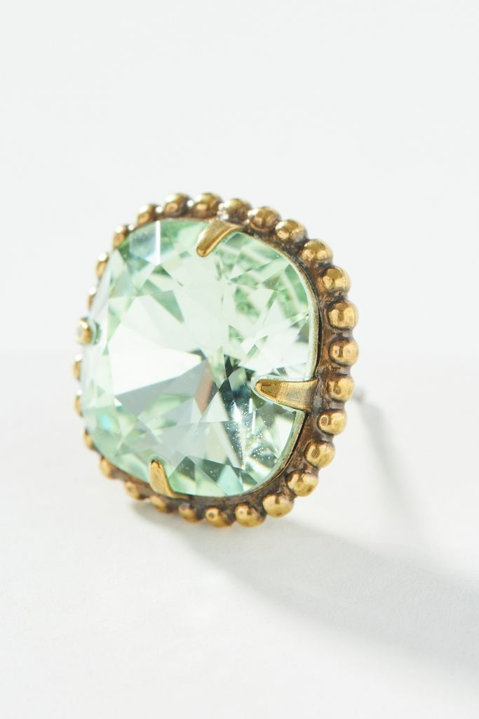 Mint green post earrings - Anthropologie