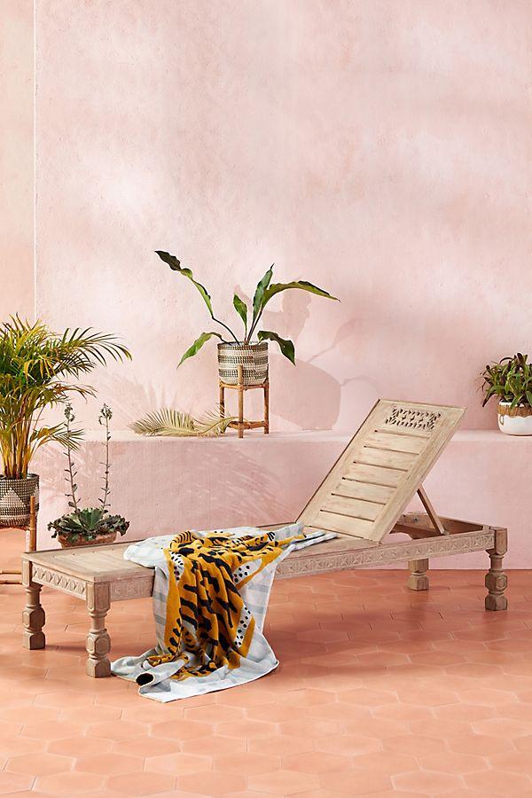 Slide View: 1: Ezana Adjustable Indoor/Outdoor Lounge Chair
