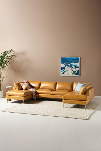 Bowen Modular Leather Armless Sofa