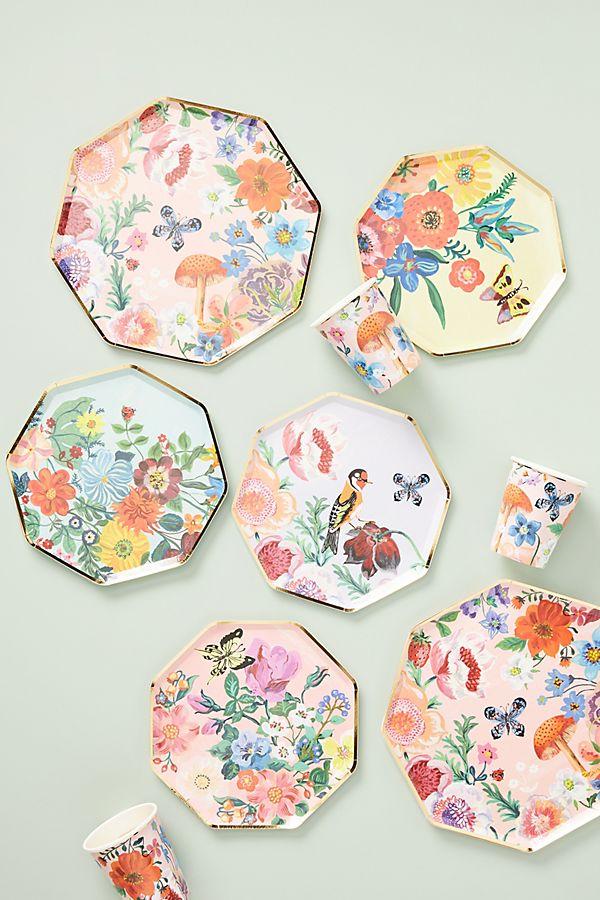 Slide View: 2: Nathalie Lete Flora Dinner Plates, Set of 8