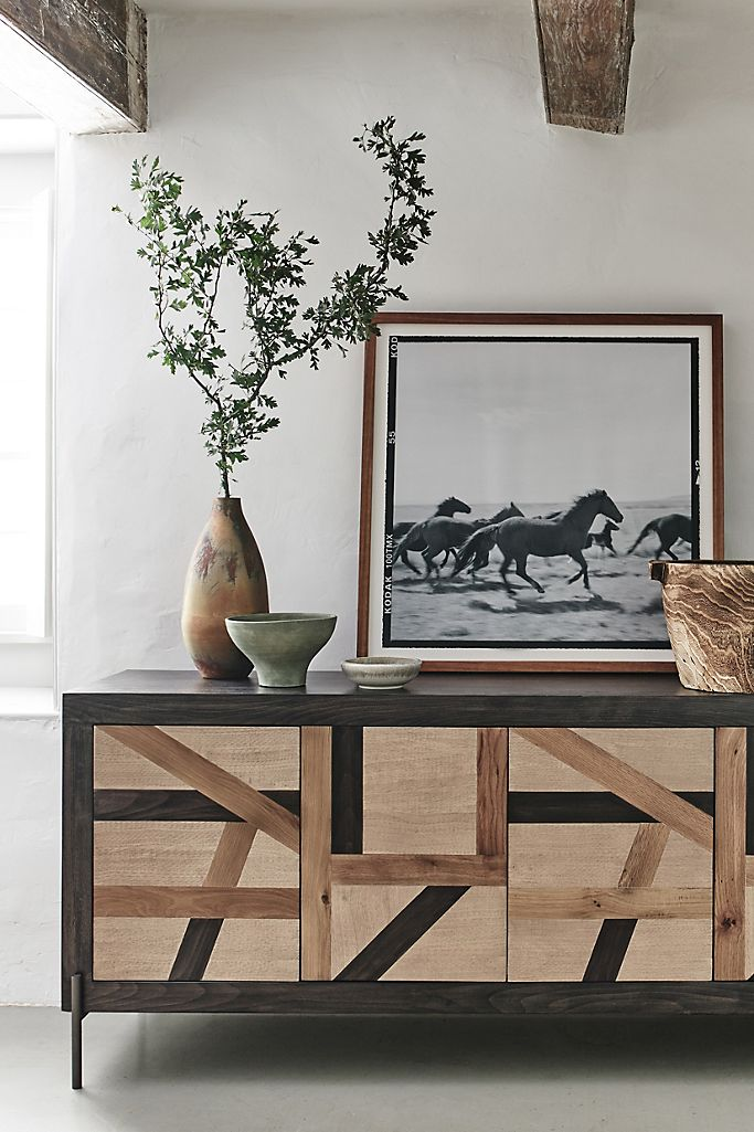 Anthropologie Art mural Landscape With Horse