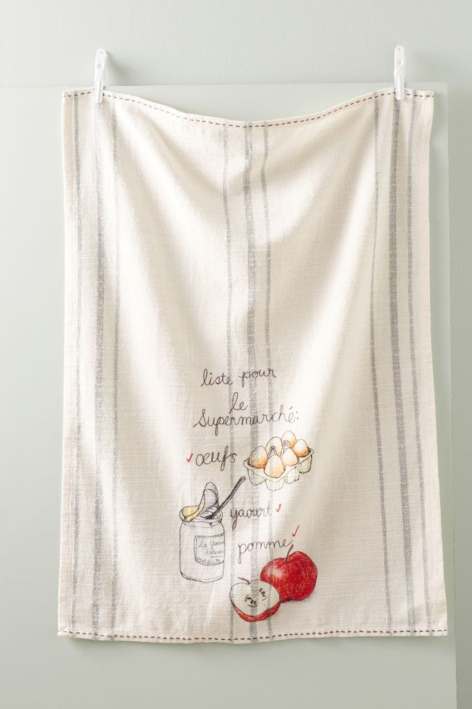 Supermarche dish towel - Anthropologie
