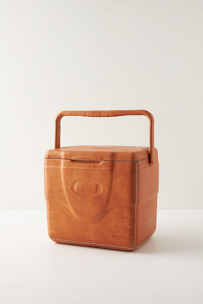 Sol&Luna Portable Leather-Wrapped Cooler