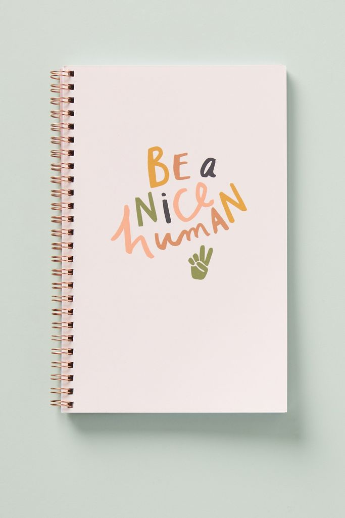 Be a nice human journal from Anthropologie