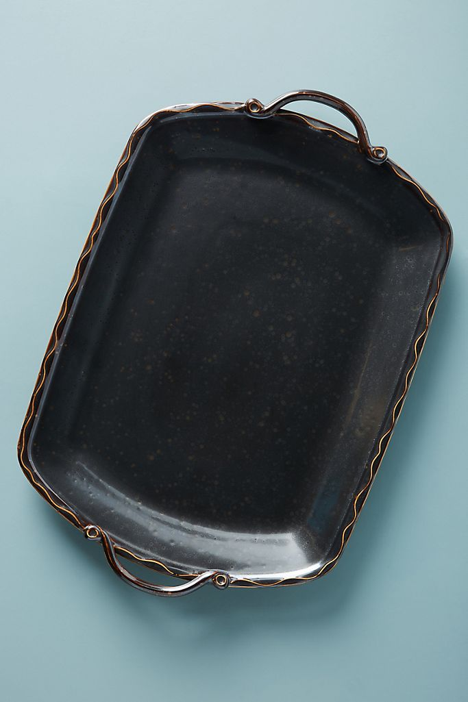beatrice black platter