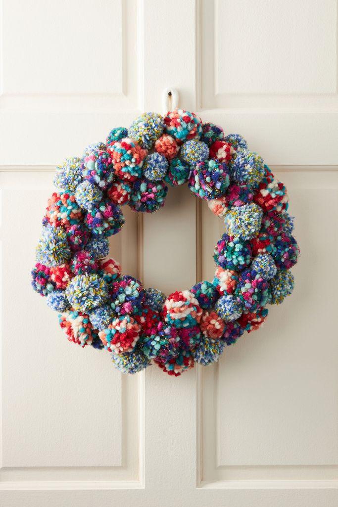 Merry Making Pom Pom Wreath
