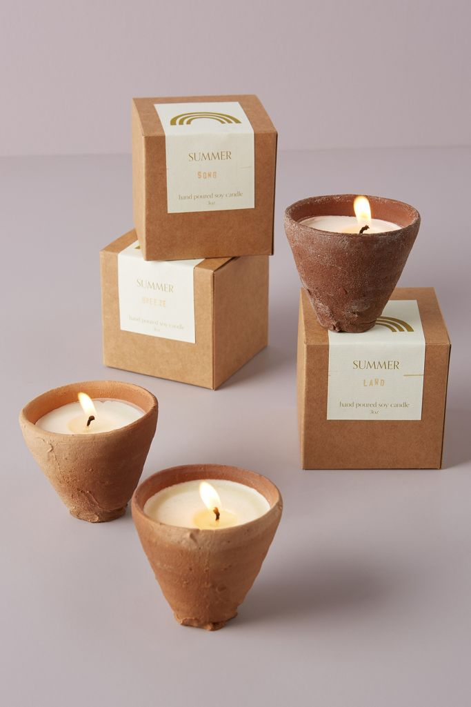 Catherine Rising summer terracotta candle