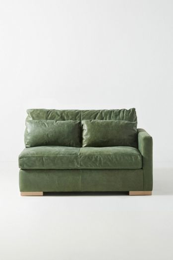 Sunday Modular Leather One-Arm Loveseat