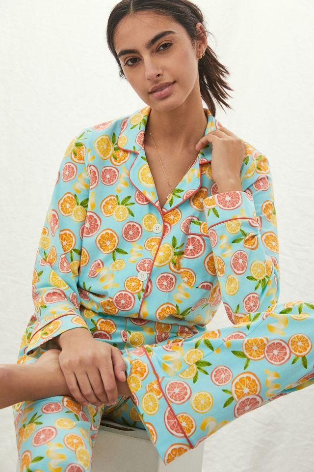 Citrus print pajamas from Anthropologie