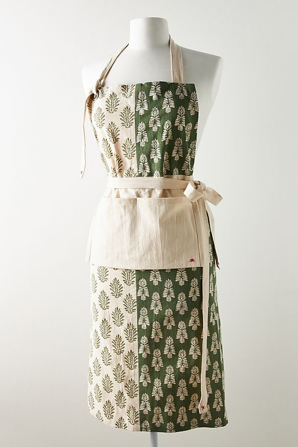 Trudy Blockprint Patchwork Apron | Anthropologie UK