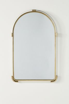 Joan Lucite And Brass Arched Mirror Anthropologie