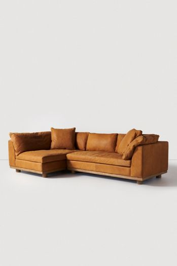 Relaxed Saguaro Leather Sectional