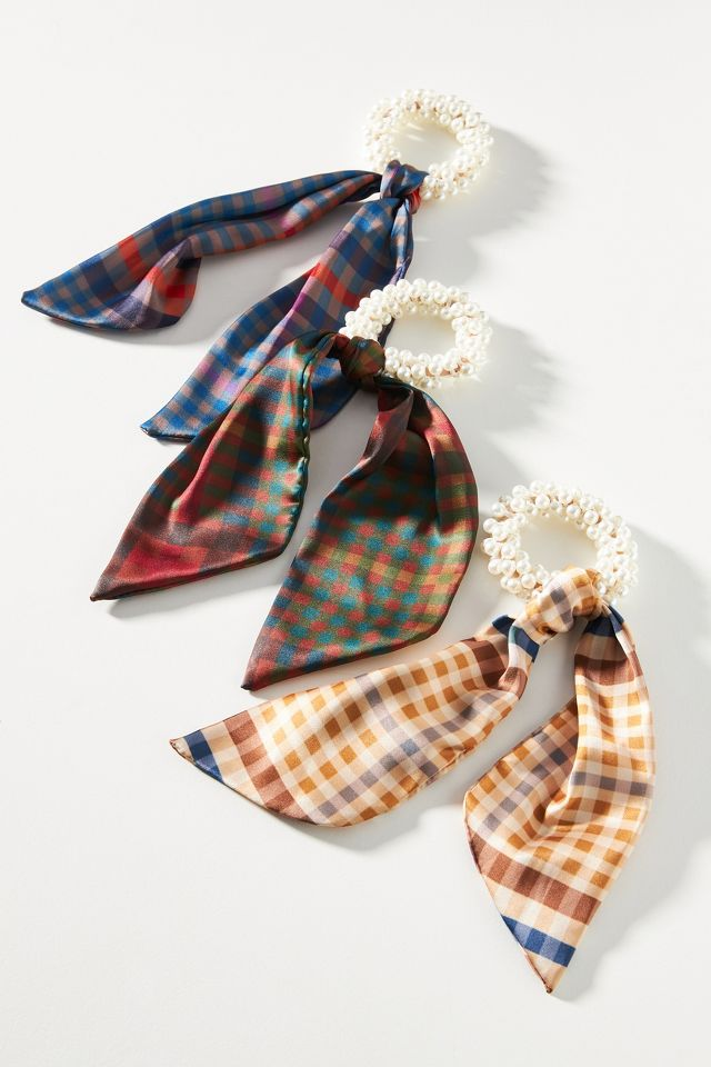 Plaid scrunchie set