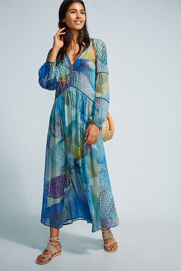 Celvia Floral Print Beach Cover Up Anthropologie Uk