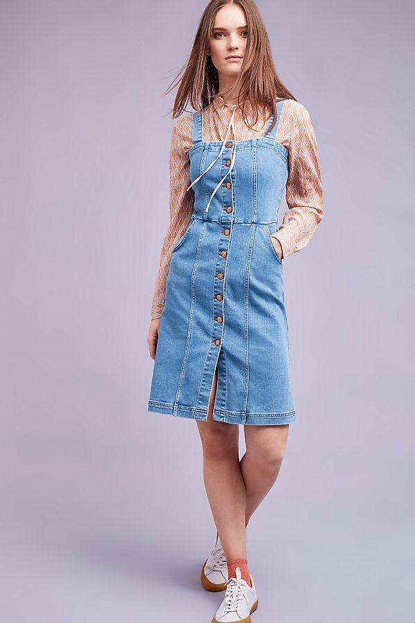 3c7254c9a13 Eliza Denim Pinafore Dress