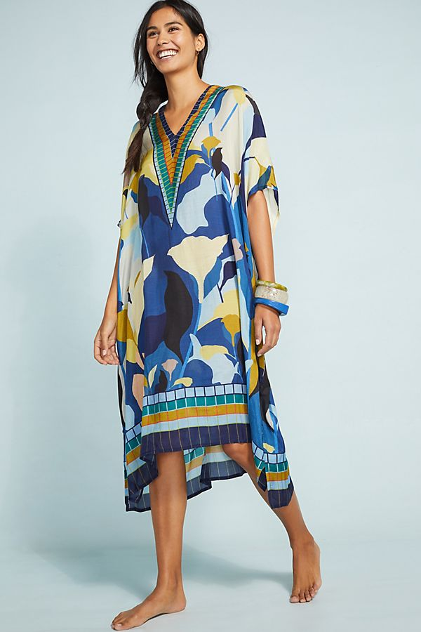 Slide View: 1: Steffi Cover-Up Maxi Dress