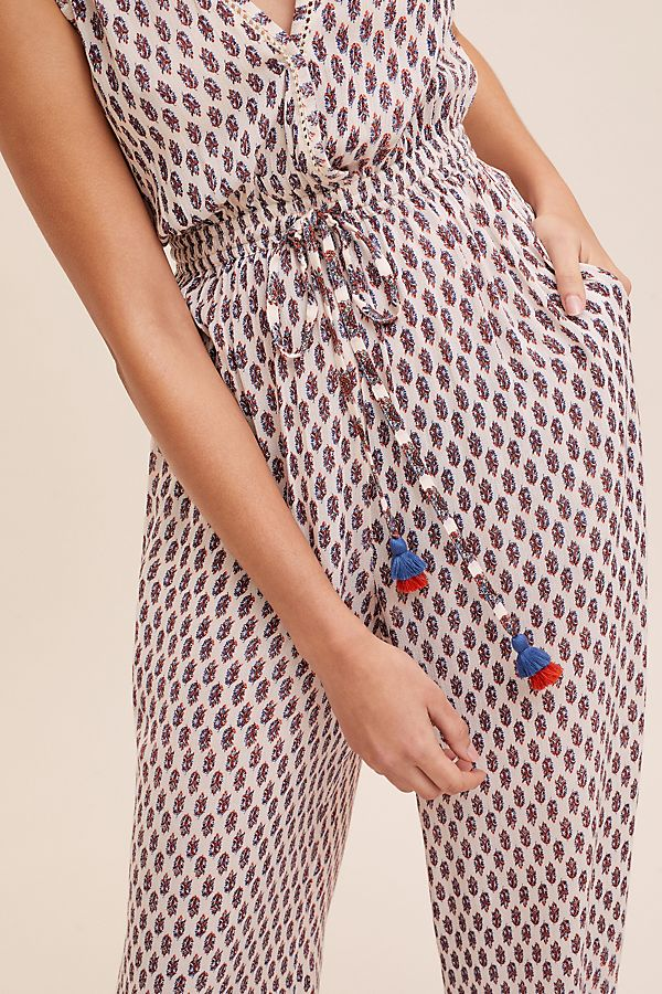 3cad483bff Printed Beach Cover-Up Jumpsuit | Anthropologie UK