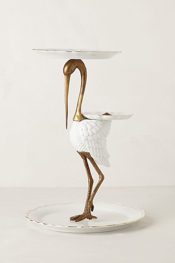 Gilded Crane Stand by Anthropologie