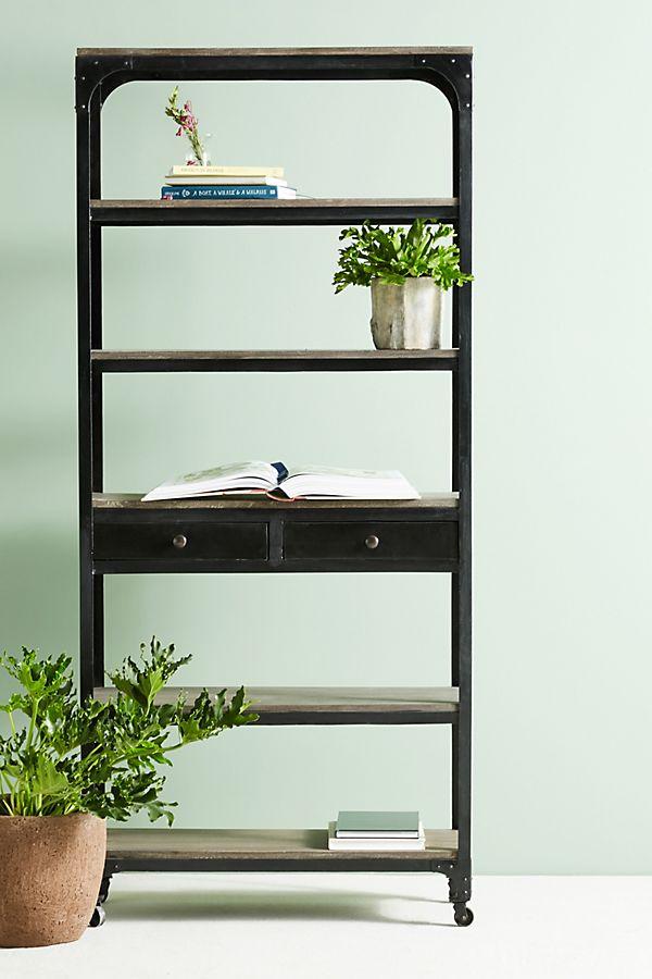 Slide View 1 Decker Five Shelf Bookshelf