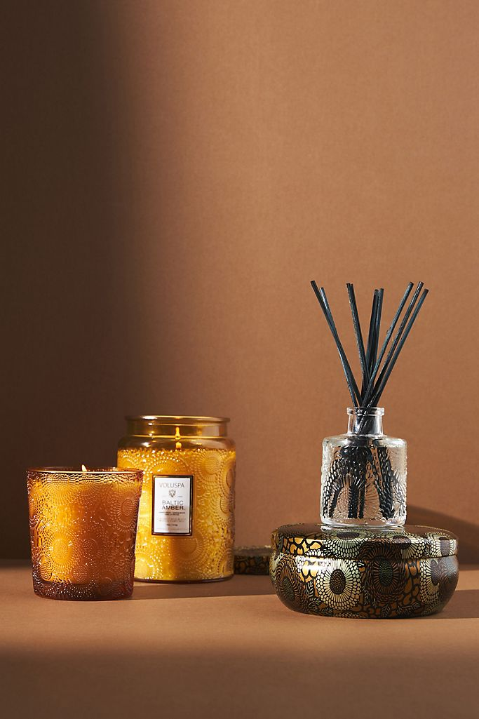 Voluspa Limited Edition Cut Glass Jar Candle Anthropologie