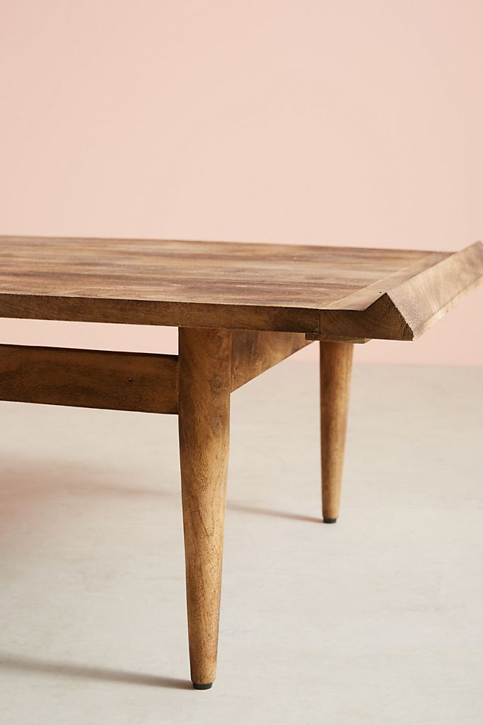 Burnished Wood Coffee Table Anthropologie