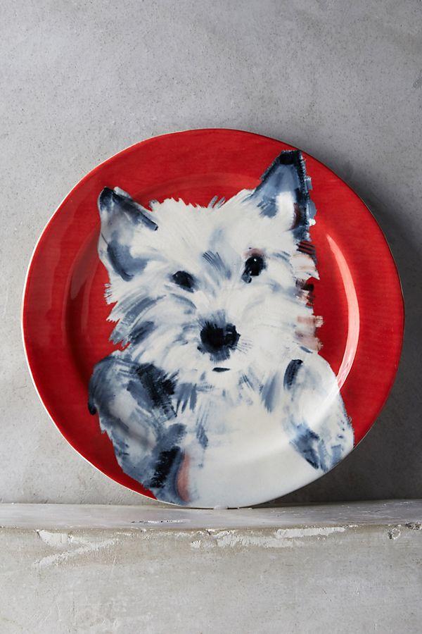 Slide View: 1: Sally Muir Dog-a-Day Dessert Plate