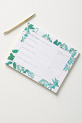 Paule Marrot Greenery Deskpad by Paule Marrot For Anthropologie